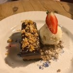 Peanut Butter & Chocolate Tart, Honeycomb Ice Cream