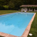 Pool and changing house