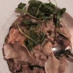 T-Bone & mushroom risotto