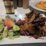 Steak Mofongo with side salad.