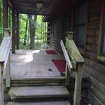 Up the front steps of Cabin 15