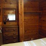 Queen bedroom dresser and closet