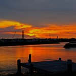 Sunset over Waters Bay, Surf City NC