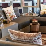 Stylish décor and comfortable seating  make our Los Angeles hotel's M Club a relaxing refuge.