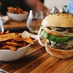 The signature burger with imported Angus beef and chipotle sauce 👌🏻