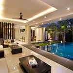 living area view pool