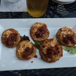 FRIED GREEN TOMATOES WITH BACON JAM