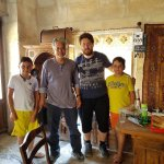 With Oguz and the twins. Oguz and Naila made our stay at Tekkaya Cave memorable. Thanks for the