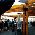 Big over water patio deck in Pier 73 restaurant