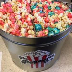 Refillable Decorative Popcorn Tin!