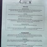 Cottonwood Cottage Menu