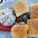 Tri-tip Swiss Sliders w/housemade coleslaw - OMTASTY!!