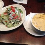 Chicken Chipotle Soup and BLT Salad