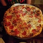 The Big P (Pepperoni Pizza) with Sesame and Sunflower Seeds