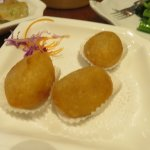 Savory Fried glutinous dumplings with minced meat and veggie