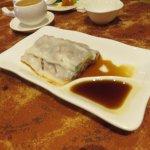 BBQ Pork Cheung Fun ( steamed rice crepe )
