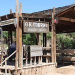 OK Corral used in movies and from were the stagecoach ride departs.