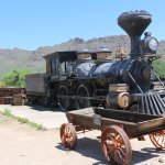 Old Reno train used in many movies. Was damaged by a fire many years ago.