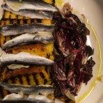 Cornbread, radicchio, anchovies