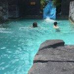 pool with a fun slide