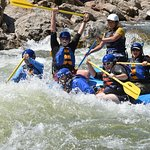 Our guide did a great job taking my co-workers, boss and me through the rapids.