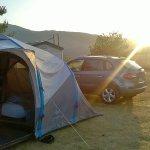 Coucher du soleil sur les montagnes, au Camping des Sirènes