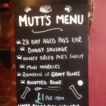 The menu for dogs