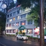Outside View of Hotel - During / After Rain