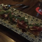 Flat bread with foi gras, figs and iberico ham