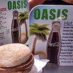 My burger and the menu's