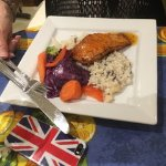 Salmon with a delicious rice