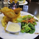 Fish and Chips off the specials board - tasty