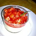 Panacotta et fraises