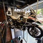 Bmw motorbike in galery