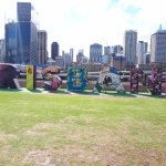 Brisbane river sign area