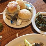 turnip greens and biscuits