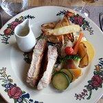 Plat menu randonneur : Côtes de veau poêlée, sauce à la verveine
