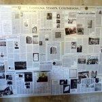 La parete con la Rassegna Stampa