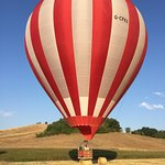 An expert landing on a hay bale - followed by a champagne breakfast!