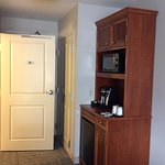 Coffee station, closet and bthroom door