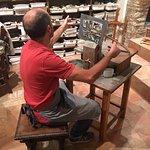 Stone-cut art in the making