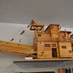 A model of the Dredge in the Interpretive Center