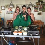Us with our cooking instructor Noodie