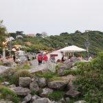 terrassen buiten de camping