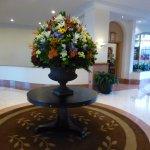 décoration florale du lobby