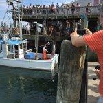 tuna being hauled in