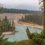 View of Kootenay River from Nipika hiking trails