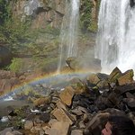 A rainbow at the end of the falls!