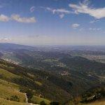 Panorama da cima monte cesen sopra pianezze