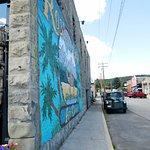mural at Roslyn cafe